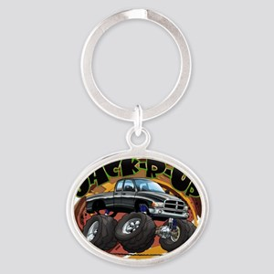 Black Jack-R-Up Ram Oval Keychain